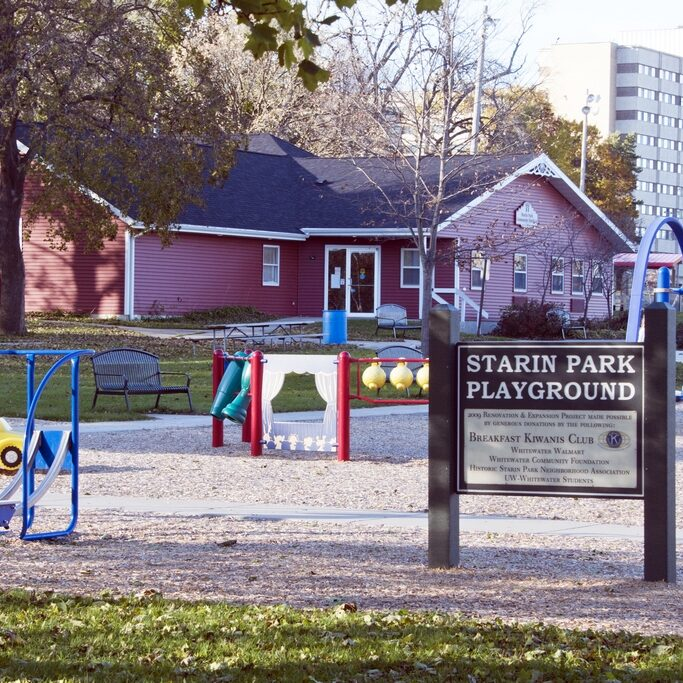 One of the Community Action Grants provided for the workout equipment at Starin Park.